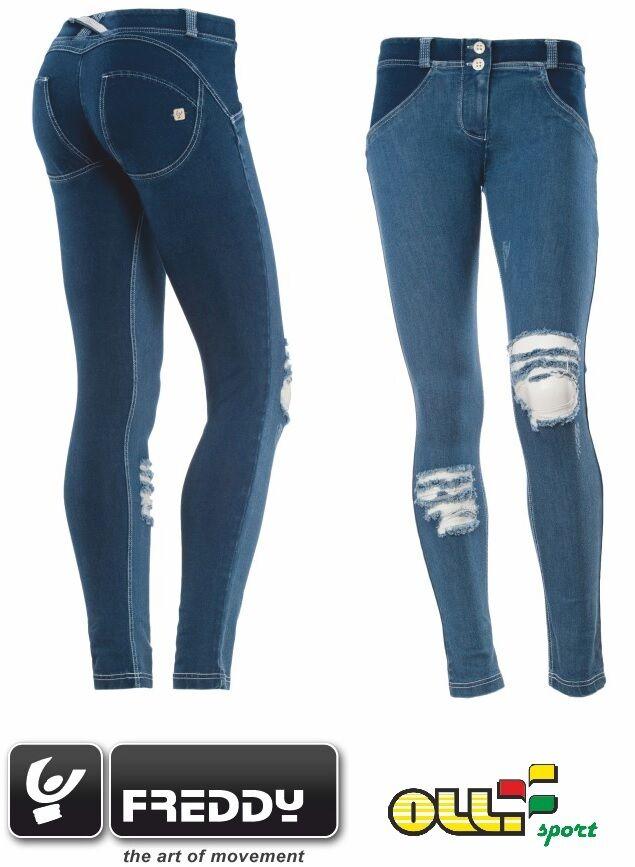 FREDDY WR.UP Pantalone women Jeans Trouser DENIM blue PUSH UP WRUP1GLJ4E JOW WRUP