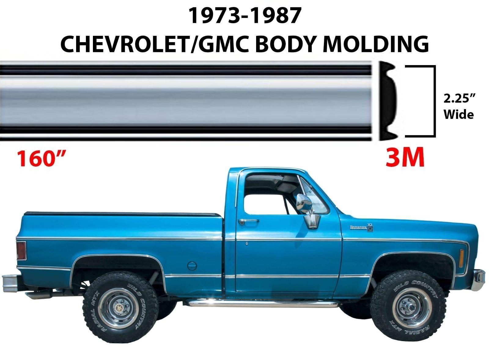 """160"""" Roll Chrome Body Side Molding For 1973-1987 C10 K1"""