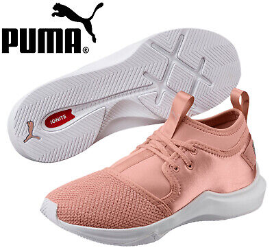 Puma Phenom Low Satin En Pointe Womens Trainers Pull On Peach 190969 02 B97C