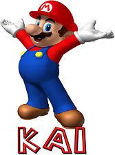 SUPER Mario personalizzata FERRO sul trasferimento di creare una maglietta Ideale Per Natale