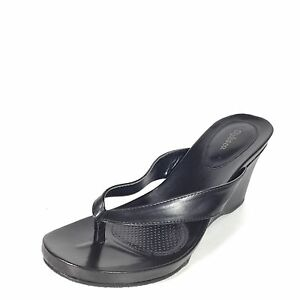 7728c6fb06df Details about Style   Co Chicklet Women s Size 10 M Black Wedge Sandals.