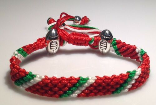SIX NATIONS inspired Handmade Rugby Rope Bracelets by Mary/'s Terrace Ltd