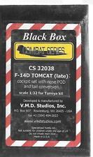 Black Box F-14D Tomcat (Late) Cockpit Upgrade Set w/ Nose POD and Tail Conv 1/32