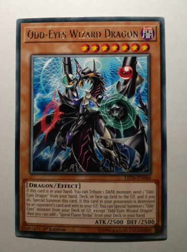 Rare LED6-EN046 1st Edition 3X Odd-Eyes Wizard Dragon YUGIOH