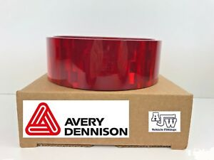 20-Meter-x-55mm-RED-Reflective-Conspicuity-Tape-ECE104-AVERY-VTEC-Truck-Lorry