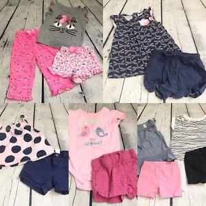 Baby Girl Clothes Lot 9 12 12 Months Spring Summer Short Tops Bodysuit Pajamas Ebay