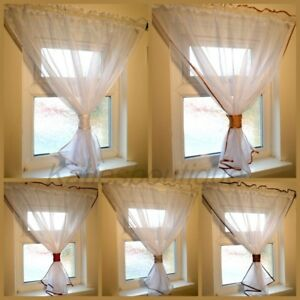 Beautiful Voile Net Curtains Perfect For Small Window Ebay