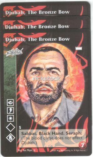 The Bronze Bow x3 Assamite LotN VTES Jyhad Djuhah