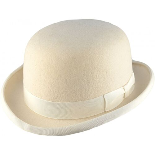 Quality 100/% Wool Hard Top Bowler Hat Satin Lined Hand Made 12 Colurs 5 Sizes