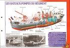 Fireboat engine Bateaux-Pompes du Régiment Paris FICHE Pompier FIREFIGHTER