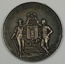 1891 St. Gallen Switzerland Silver Swiss Shooting Medal R1167 JA