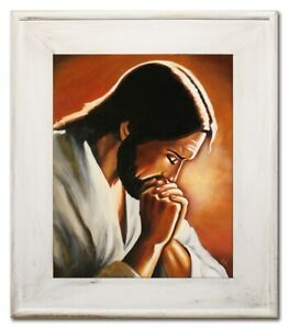 Religion-Jesus-Christ-Handmade-Oil-Painting-Picture-Oil-Frame-Pictures-G95027