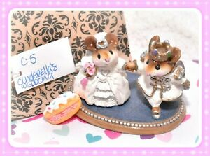 ❤️Wee Forest Folk C-5 Cinderella's Wedding White Prince RETIRED Mice Mouse❤️