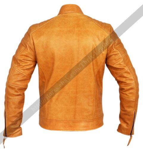 New Mens Designer Weybridge Motorcycle And Fashion Cowhide Leather Jacket