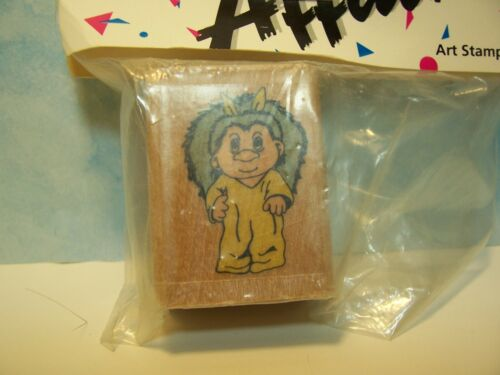 Very Rare NEW EASTER BUNNY TROLL RUBBER STAMP