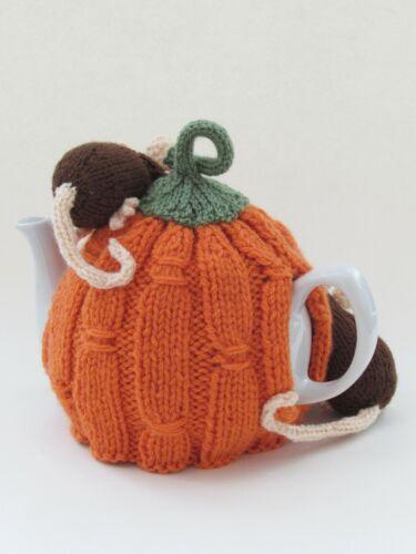 Cosecha Calabaza Cubre Tetera Tejer patrón a tejer su propio tema cubre tetera de otoño