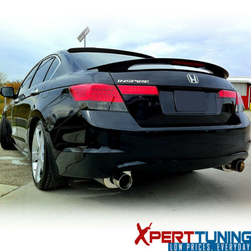 Fits 08-12 Honda Accord Sedan OE Factory Matte Black Trunk Spoiler /& LED Brake