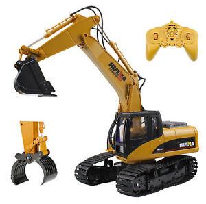 2en1-MOULAGE-sous-pression-RC-Pelle-excavatrice-camion-avec-extra-GRIFFE-bois