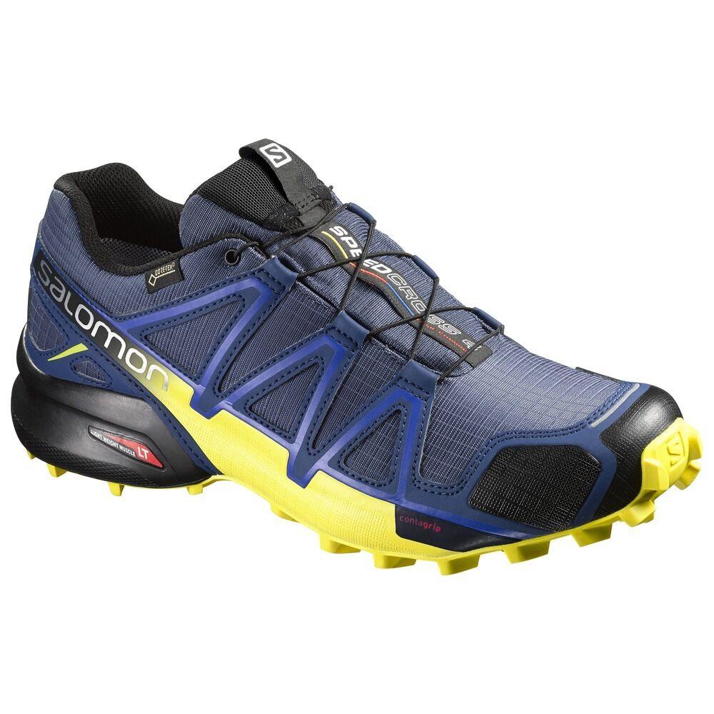 Trail Running shoes Salomon Speedcross 4 GTX Slatebluee bluee Depth