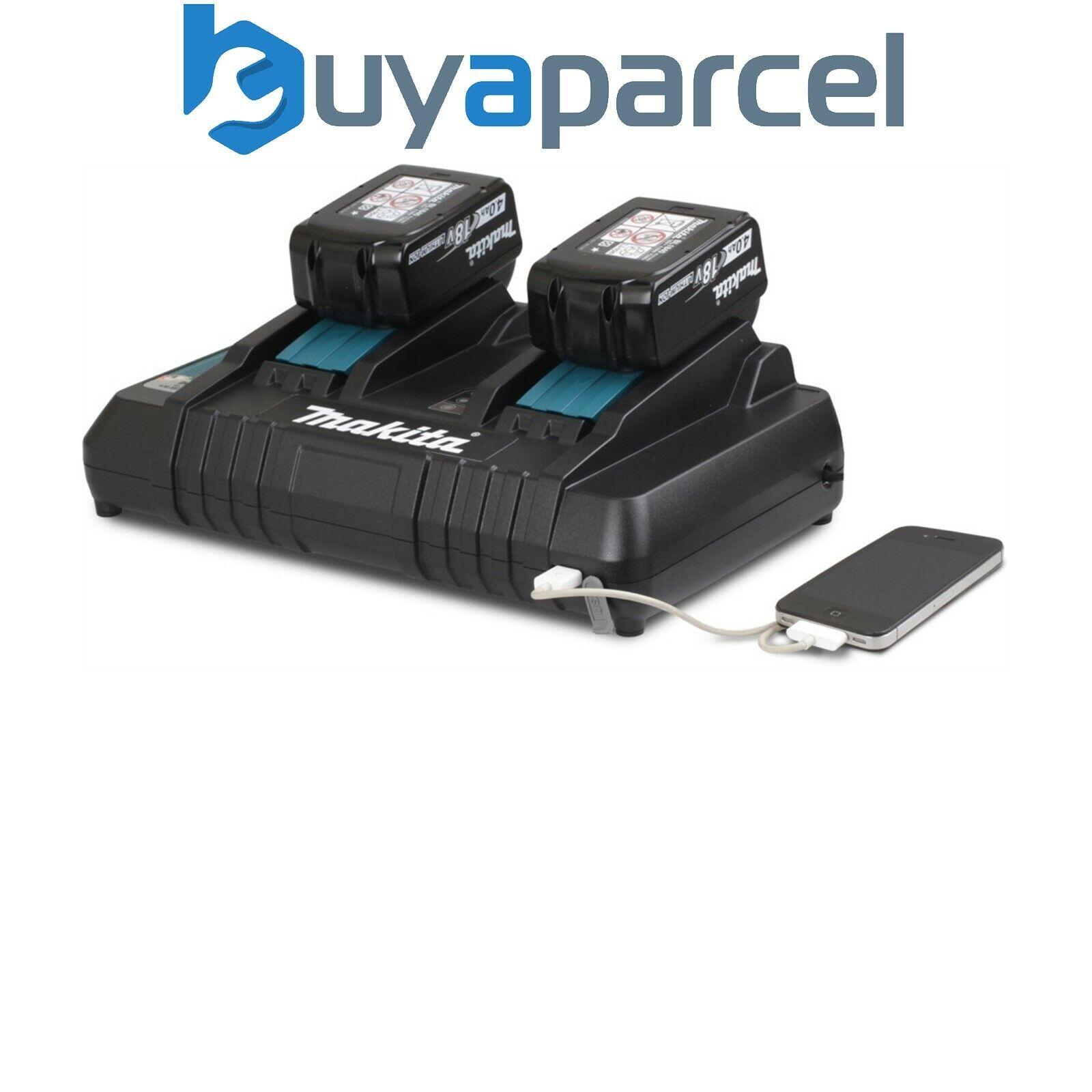 Makita Dc18rd 240v 18v Dual-Port Batterie Schnellladegerät mit USB Ladeanschluss
