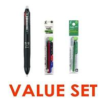 Pilot Frixion Ball 4 Click Retractable 4 Color Gel Ink Erasable Murti Pen 0.5mm/