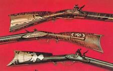Vintage POSTCARD c1950-60s Flintlocks Winchester Gun Museum NEW HAVEN, CT 17854