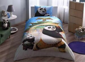 Copripiumino Kung Fu Panda.100 Cotton Duvet Cover Bed Set Kung Fu Panda Movie Single Twin Kid