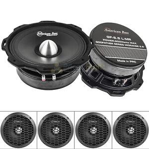 American-Bass-GF-6-5-L-MR-6-5-034-Midrange-Speakers-Godfather-600-Watts-Max-4-Pack