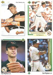 Details About Baltimore Orioles 1989 1990 1991 1992 Upper Deck Team Set Lot Cal Ripken Jr 121