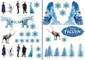 Frozen-Eiskoenigin-Essbar-Tortenaufleger-NEU-Party-Deko-Muffinaufleger-dvd-Elsa