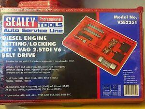 Sealey-Asiento-VAG-VW-Audi-2-5-TDI-V6-Diesel-Motor-Cam-Kit-de-herramientas-de-sincronizacion-de
