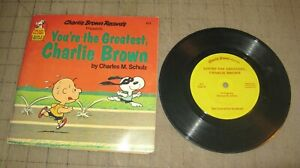 1980 YOU'RE THE GREATEST, CHARLIE BROWN 411 Book/Record Set - Peanuts - Schulz
