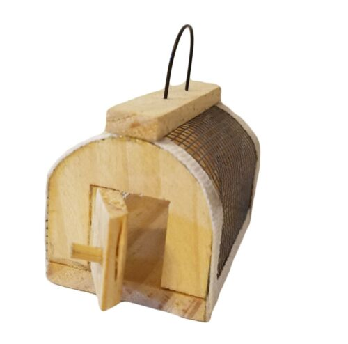 New Vintage Dollhouse Miniature Wood /& Wire Mesh Mouse Animal Cage Trap Carrier