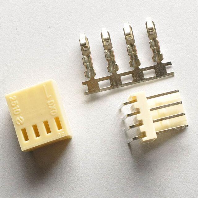 KF2510-4P 2.54mm Pin Header+Terminal+Housing Right Angle Connector Kits 20Pcs