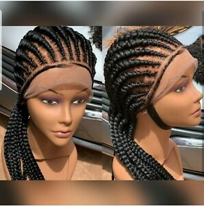 Details about braided wigpretty straight back cornrow wig.Cornrow  wig.PRE,ORDER ONlY.2,3WEEKs