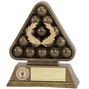 Snooker Piscine Trophy en 3 tailles Gravure Gratuite jusqu/'à 30 lettres