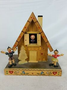 Vintage Reuge Swiss Chalet Wood Music Box Made in Switzerland