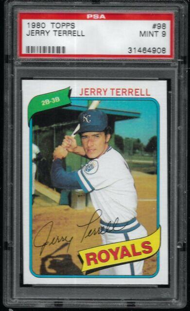 1980 Topps Jerry Terrell Kansas City Royals #98 PSA 9 MINT SET BREAK