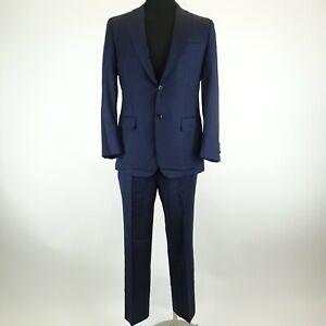 ING. Loro Piana & Co Blue Wool Suit - 1 Button Blazer & Slacks Suit Size 50R