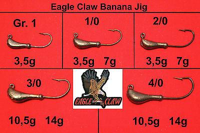 VMC Barbarian Banana Jig 1//0 verschiedene Gewichte Jighaken Jigkopf Jigköpfe