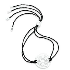 Daisy Jewellery NEW! Black Cord Sterling Silver Sacral Chakra Bracelet