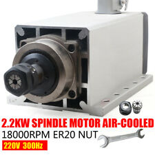 22kw Square Cnc Spindle Air Cooled Motor Er20 220v 18000rpm Ceramic Bearing