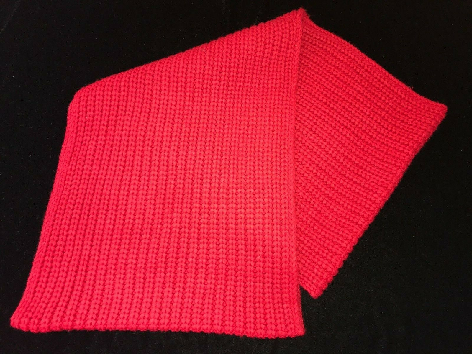 J CREW solid red BULKY KNIT womens one size INFINITY SCARF so soft @@