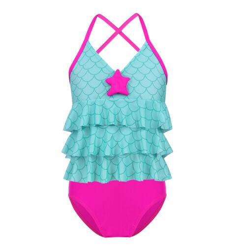 Kids Girls Swimsuit Tankini Set Bikini Beach Clothes Clothing Childrens Swimwear