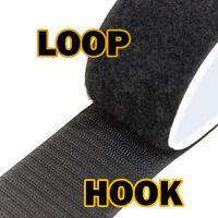 The Elixir Deco Black Self Adhesive Hook & Loop Fasteners 2 2/5/10 Yard