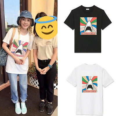 KPOP 2NE1 CL T-shirt Unisex Merchandise Tshirt Short Sleeve Cotton Tee