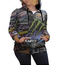 Ken Block Car Stickerbomb Hoodie Women's Zipper Hoodie Size S   M   L   XL   XXL