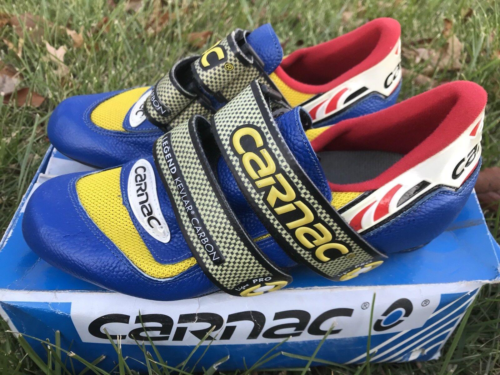 Carnac Cycling shoes Legend  Carbon Pro SIZE 39 NIB Free Ship to USA