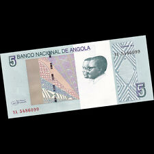 1/2 Bundle Lot 50 PCS, Angola 5 Kwanzas, 2012(2017), P-NEW, UNC,  Original