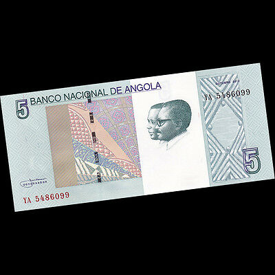 2012 P-NEW Bundle Lot 100 PCS Angola 5 Kwanzas 2017 UNC